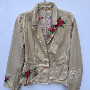 Johnny Was Floral Embroidered Blazer Jacket